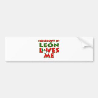 Leon city designs car bumper sticker