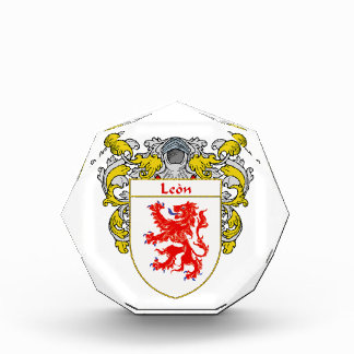 Leon Coat of Arms Family Crest Acrylic Award