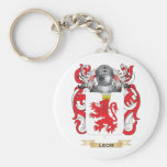 Leon Coat of Arms (Family Crest) Keychains