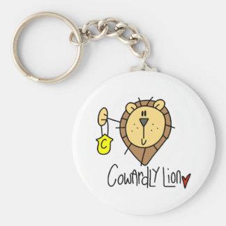 León cobarde llaveros