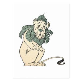 León cobarde, mago de Oz Postales