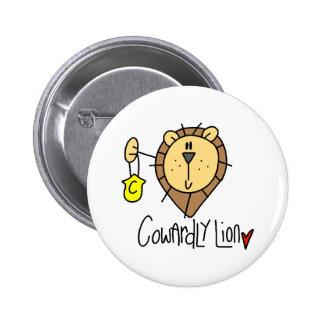 León cobarde pins