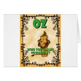 León cobarde tarjeta de felicitación