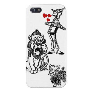 León cobarde Toto iphone5 del hombre de la lata de iPhone 5 Fundas