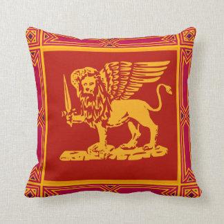 León con alas de la almohada de tiro clásica de Ve