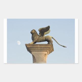 León con alas de St Mark, Venecia, Italia Rectangular Altavoz