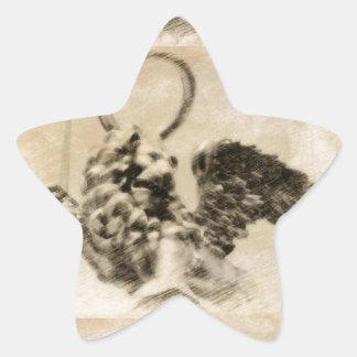 León con alas pegatinas forma de estrellaes personalizadas