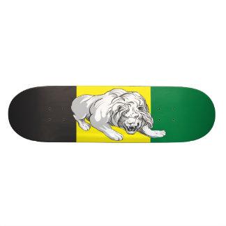 León con colores jamaicanos tablas de patinar