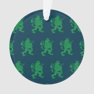 León coronado azulverde