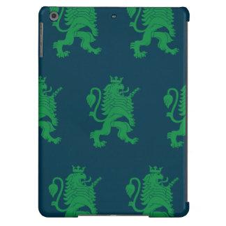 León coronado azulverde funda para iPad air