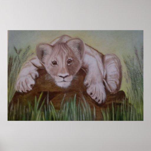 León Cub Botswana Póster