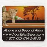 León Cub, puesta del sol y Masai Mousepad Alfombrilla De Raton