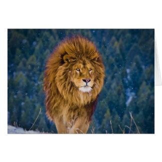 León de Barbary (digital) Tarjeta De Felicitación