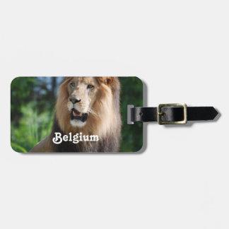 León de Bélgica Etiquetas Para Equipaje