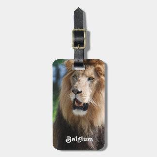 León de Bélgica Etiqueta Para Equipaje