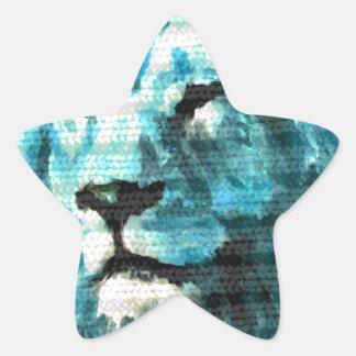 León de Bue Pegatina En Forma De Estrella