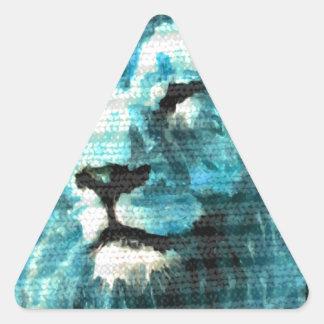 León de Bue Pegatina Triangular