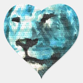 León de Bue Pegatina En Forma De Corazón