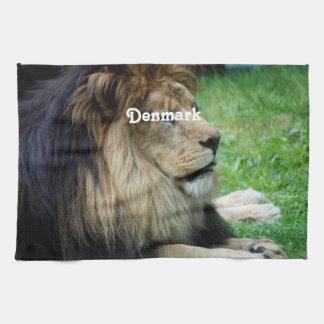León de Dinamarca Toalla De Cocina