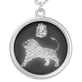 León de dios colgante redondo