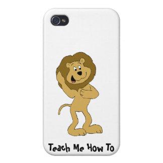 León de Hip Hop del dibujo animado que hace el Dou iPhone 4 Cárcasas