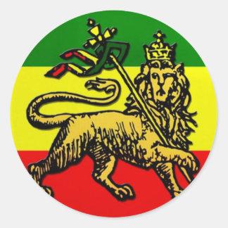 León de Judah Pegatina Redonda