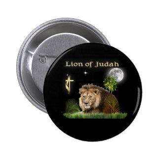 León de Judah Pin Redondo De 2 Pulgadas