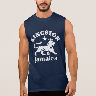 León de Kingston Jamaica Rastafari del vintage Playera Sin Mangas