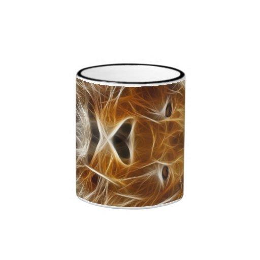 León de la fantasía tazas de café
