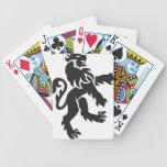 León de la heráldica baraja cartas de poker