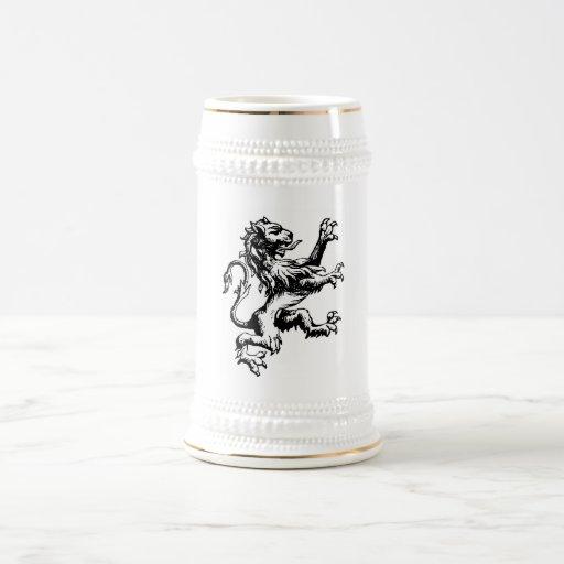 León de la heráldica tazas de café