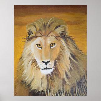 León de la impresión del arte de Judah Póster