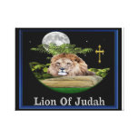 León de la lona de Judah Impresion En Lona