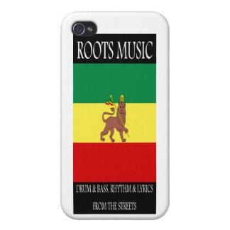 León de la música de las raíces de Judah iPhone 4 Carcasas