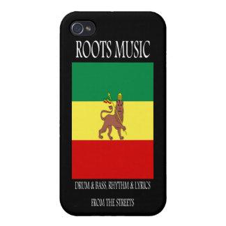 León de la música de las raíces de Judah iPhone 4 Cárcasa