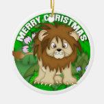 León de las Felices Navidad Adorno De Navidad