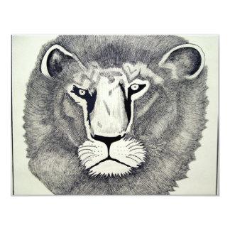 """León de Leo por Piliero Invitación 4.25"""" X 5.5"""""""