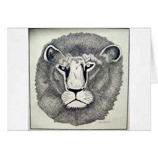 León de Leo por Piliero Tarjeta De Felicitación