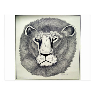 León de Leo por Piliero Tarjeta Postal