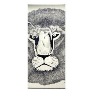 León de Leo por Piliero Tarjeta Publicitaria