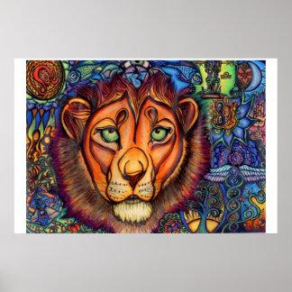 León de Leo, tranquilo y feroz Póster