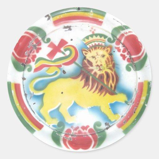 León de los pegatinas de Judah Pegatinas Redondas