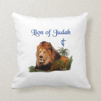 León de los regalos del cristiano de Judah Cojín Decorativo
