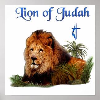 León de los regalos del cristiano de Judah Póster
