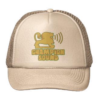 León de los sonidos del campeón gorra
