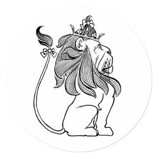 """León de mago de Oz del vintage, fiesta de Invitación 5.25"""" X 5.25"""""""