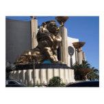 León de MGM Tarjeta Postal