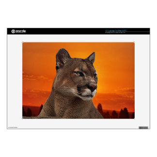 León de montaña en la puesta del sol skins para 38,1cm portátil