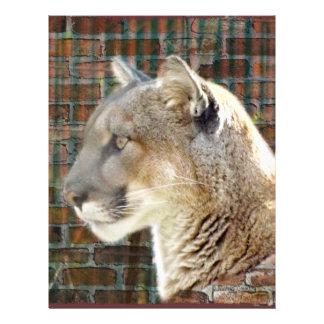León de montaña/puma membrete a diseño