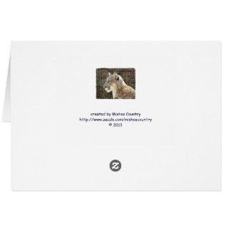 León de montaña/puma tarjeta de felicitación